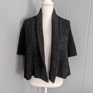 LOFT Ann Taylor Small OpenFront Charcoal Cardigan